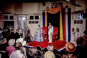 Queen Elizabeth II opens the Barbados Parliament during her Silver Jubilee, Barbados, 1977